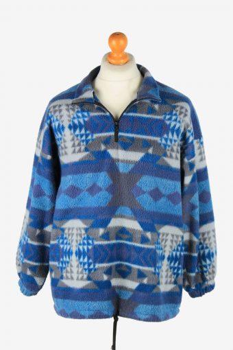 Fleece Jacket Tracksuit Top Full Zip Thermal Vintage Size M Multi -SW2744-160732