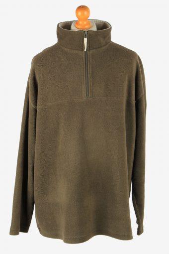 Fleece Track Top Half Zip Thermal Brown XXXL