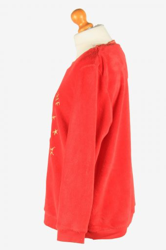 Fleece Sweatshirt The Grinch Womens Warm Vintage Size L Red -SW2754-160792