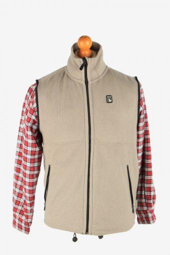 Fleece Gilet Full Zip Thermal Light Brown M