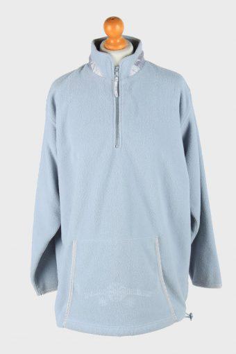 Womens Fleece Track Top Thermal Light Blue L