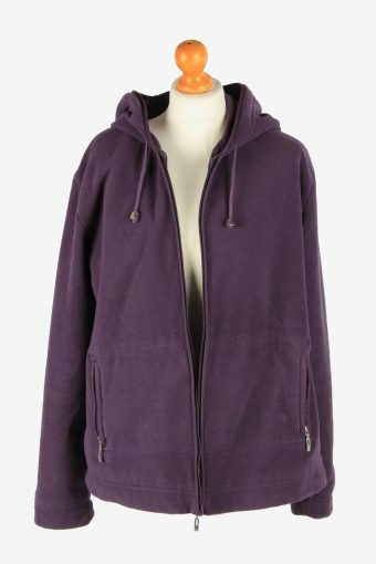 Womens Fleece Jacket Tracksuit Top Thermal Vintage Size XXL Maroon -SW2757-160810