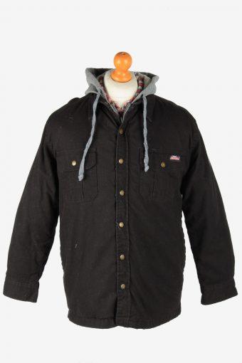 Dickies Mens  Shirt Jacket Hoodies Outdoor Vintage Size M Black C2799