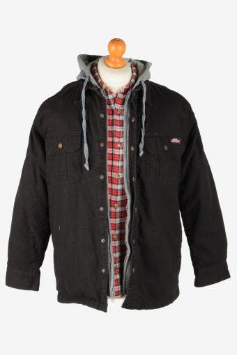Dickies Mens Shirt Jacket Hoodies Outdoor Vintage Size M Black C2799-160095