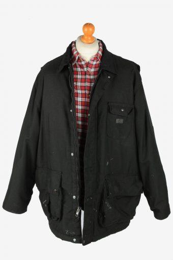 Dickies Mens Workwear Jacket Outdoor Vintage Size XL Black C2804-160130
