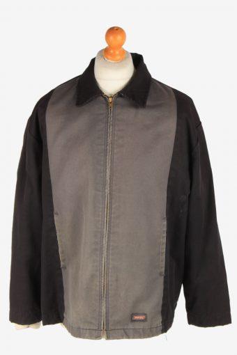 Dickies Mens Workwear Jacket Outdoor Zip Up Vintage Size N/A Black C3037