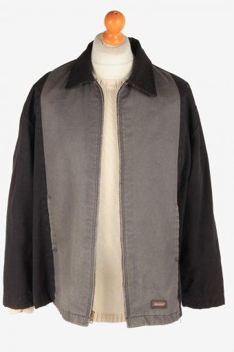 Dickies Mens Workwear Jacket Outdoor Zip Up Vintage Size N/A Black C3037-163362