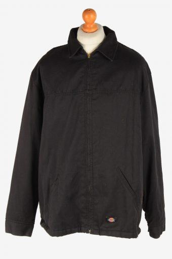 Dickies Mens Jacket Outdoor Lined Zip Up Vintage Size XXL Black C3038