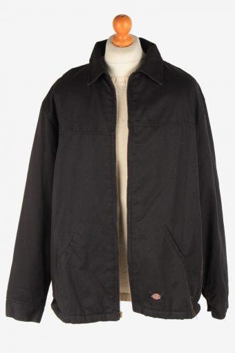 Dickies Mens Jacket Outdoor Lined Zip Up Vintage Size XXL Black C3038-163368