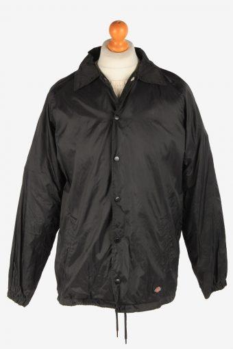 Dickies Mens Waterproof Bomber Jacket Workwear  Zip Up Vintage Size S Black C3041