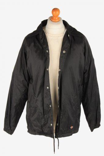 Dickies Mens Waterproof Bomber Jacket Workwear Zip Up Vintage Size S Black C3041-163386