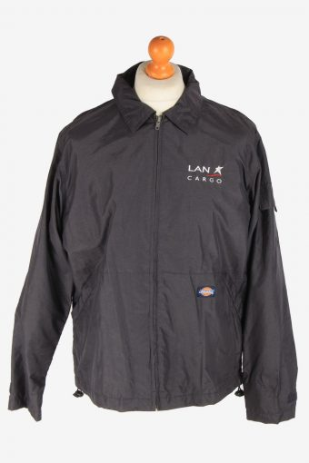 Dickies Mens Waterproof Jacket Workwear  Outdoor Vintage Size M Dark Grey C3042