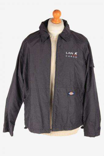Dickies Mens Waterproof Jacket Workwear Outdoor Vintage Size M Dark Grey C3042-163392