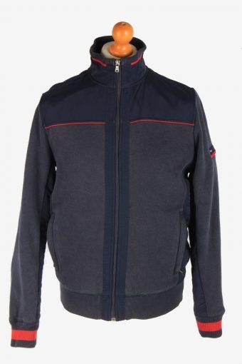 Tommy Hilfiger Mens Jacket Outdoor Knited Vintage Size M Navy C3049