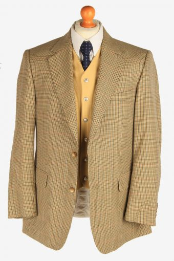 Burberry Mens Blazer Jacket Wool Casual Size L Beige -HT3105-166624