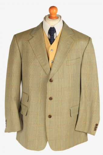 Burberry Mens Blazer Jacket Windowpane L