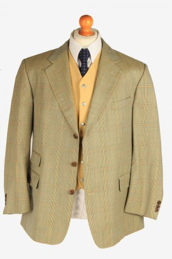 Burberry Mens Blazer Jacket Windowpane Country Size L Multi -HT3106-166630