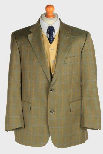 Burberry Mens Blazer Jacket Windowpane Grey L
