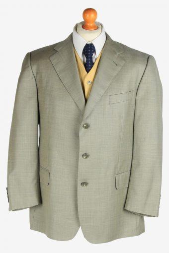 Burberry Mens Blazer Jacket Virgin Wool Light Grey M