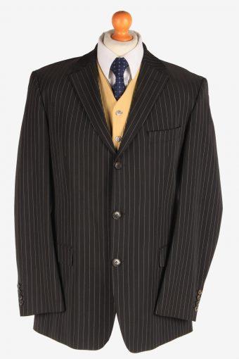 Hugo Boss Mens Wool Strech Blazer Jacket Lined Black XL