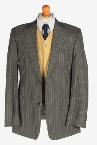Hugo Boss Mens Stripes Blazer Jacket Super 140 Vintage Size XL Grey -HT3117-166696