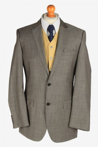 Hugo Boss Mens Wool Blazer Jacket Super 100 Grey L