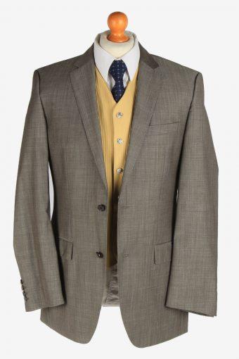 Hugo Boss Mens Wool Blazer Jacket Super 100 Vintage Size L Grey -HT3118-166702