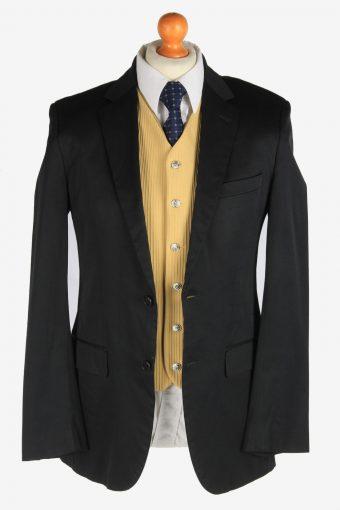 Hugo Boss Mens Blazer Jacket Lined Smart Vintage Size M Black -HT3120-166714