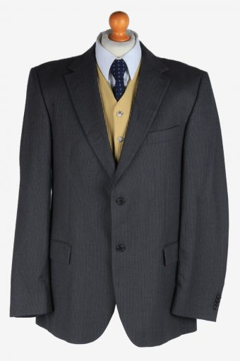 Tommy Hilfiger Mens Blazer Jacket Wool Dark Grey XL
