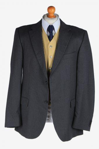 Tommy Hilfiger Mens Blazer Jacket Wool Vintage Size XL Dark Grey -HT3124-166738