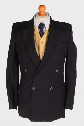 Mens Suit Blazer Jacket Lined Black S
