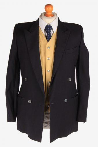 Mens Suit Blazer Jacket Lined Casual Vintage Size S Black -HT3126-166750