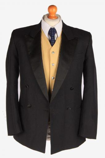 Blazer Jacket Mens Button Up Lined Casual Vintage Size S Black -HT3129-166768