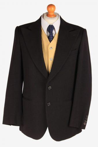 Blazer Jacket Button Up Wool 90s Retro Black M