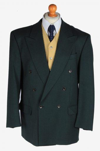 Blazer Jacket Button Up Wool 90s Retro Green XL