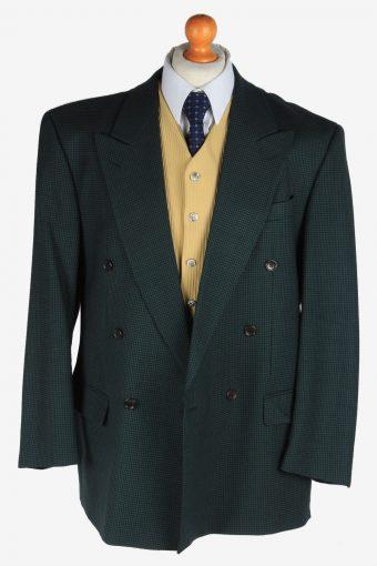 Blazer Jacket Suit Button Up Wool Smart Vintage Size XL Green -HT3133-166792