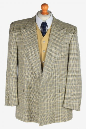 Mens Suit Blazer Jacket Windowpane Vintage Size M Multi -HT3136-166810