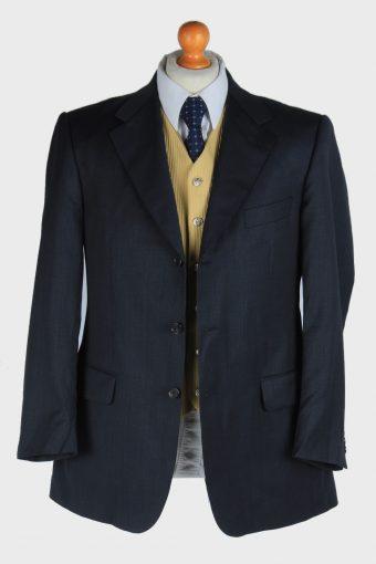 Burberry Mens Wool Blazer Jacket Lined Smart Vintage Size M Dark Grey -HT3142-166846