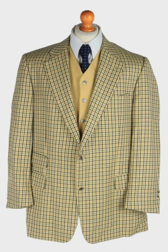 Burberry Mens Wool Blazer Jacket Windowpane L
