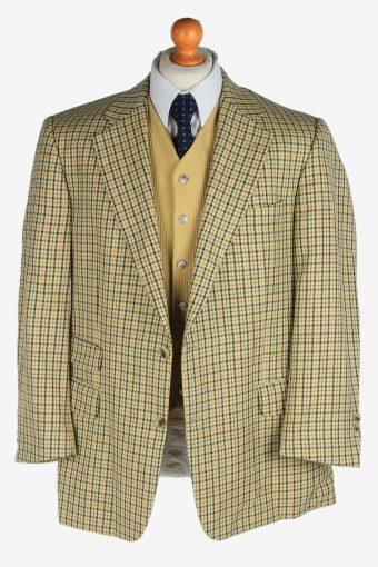 Burberry Mens Wool Blazer Jacket Windowpane Vintage Size L Multi -HT3147-166876