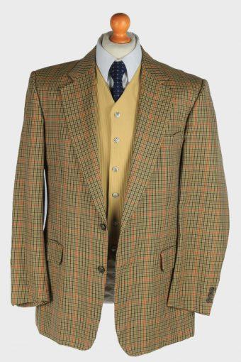 Burberry Mens Wool Blazer Jacket Windowpane Vintage Size L Multi -HT3148-166882