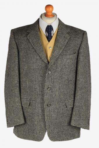 Harris Tweed Mens Blazer Jacket Wool Grey L