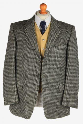 Harris Tweed Mens Blazer Jacket Wool Country Vintage Size L Grey HT3160-166954