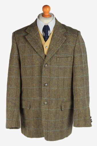 Harris Tweed Blazer Jacket Classic Windowpane L