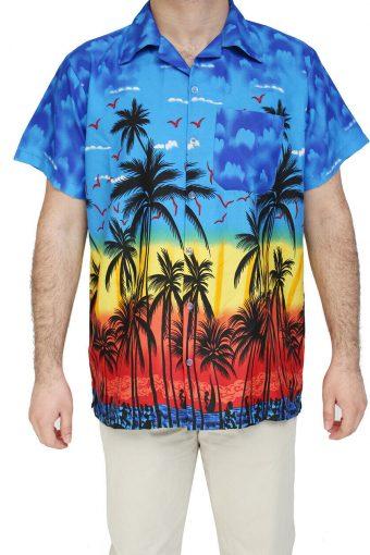 New Hawaiian Shirt Stag Beach Palm Hawaii Party Summer Fancy Men XS to XXL