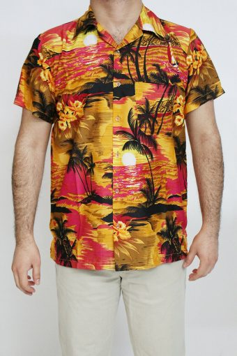 New Hawaiian Stag Beach Palm Aloha Party Summer Fancy Shirt XS to XXL