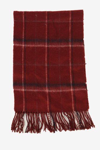 Check Tartan Scarf Vintage Soft Tassel Plaid Warm 90s Retro Burgundy