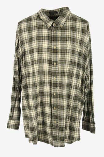 Flannel Shirt Vintage Check Oversize Long Sleeve Cotton Multi Size XXXXL
