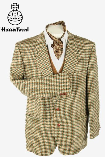 Harris Tweed Vintage Blazer Jacket Check Weave Country  Multi Size XXL