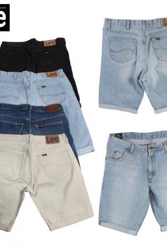 Vintage Lee Men Denim Shorts Cut Off Rolled Up